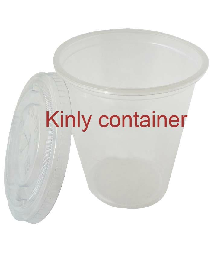 9oz with lid Clear Plastic Cup 1