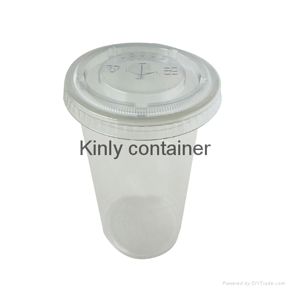 9oz with lid Clear Plastic Cup 2
