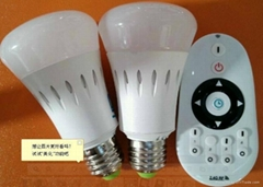 brightness & color temperature ajustable LED bulb