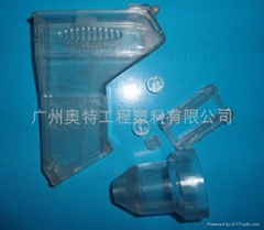 PMMA plastic white and translucent fittings for toys