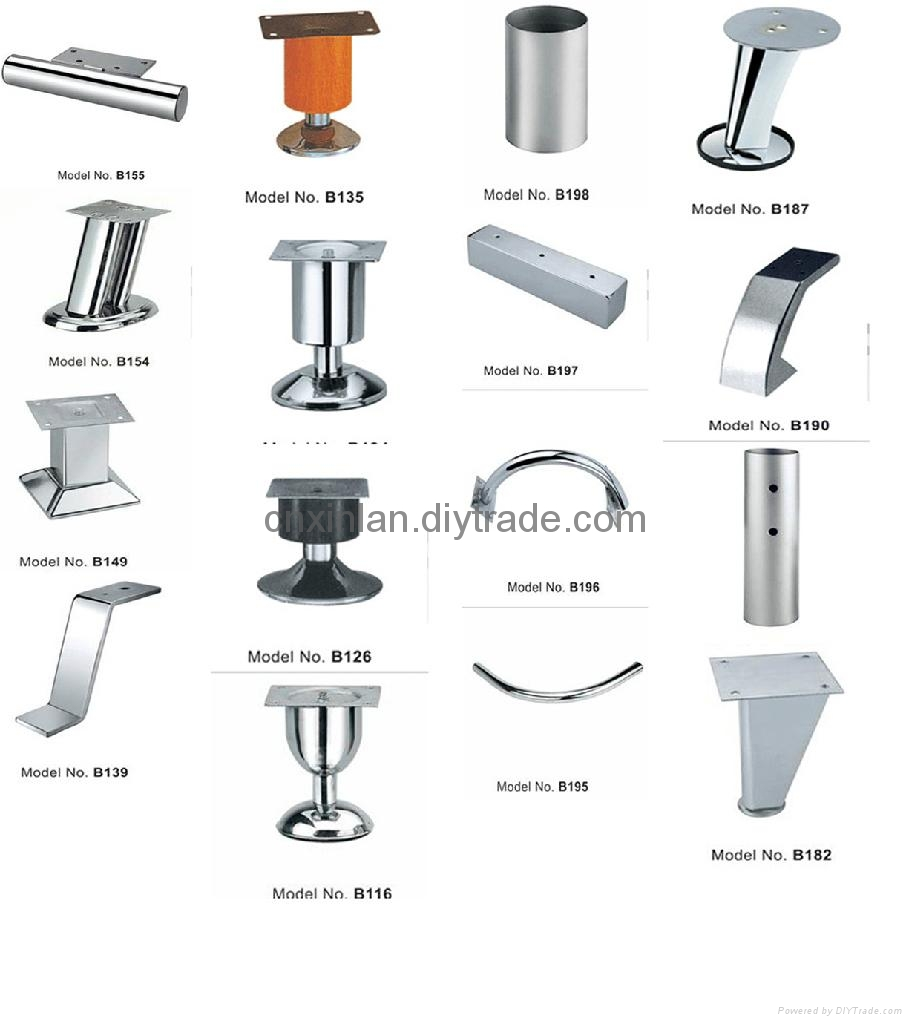 Metal furniture legs for bed fa105 xinlan china manufacturer furniture parts Xinlan home furniture limited