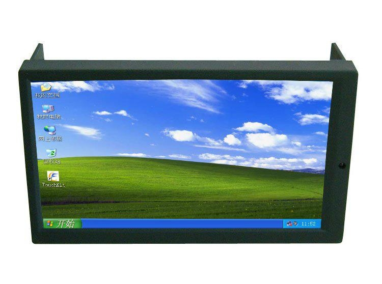 "6.95"" Double DIN Touch Screen LED Monitor for Car PC Carputer Display  1"
