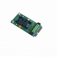 Mini PCIe Extension SIM Card Socket for 3G Modem and Mini PCI e interface