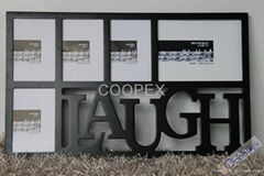 ML019 LAUGH WORD 5 WINDOWS COLLAGE PICTURE FRAMES