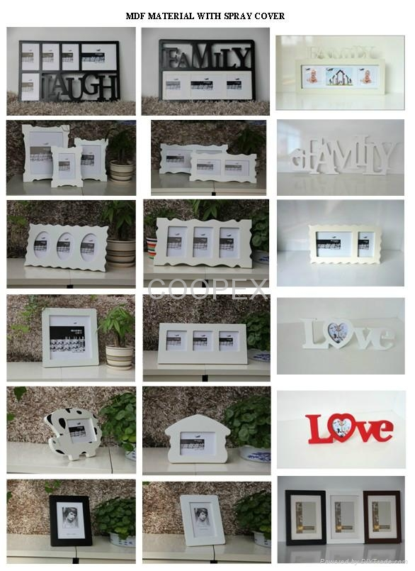 ML019 LAUGH WORD 5 WINDOWS COLLAGE PICTURE FRAMES - COOPEX