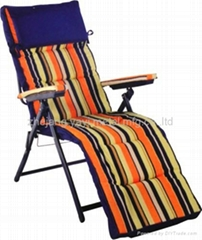High Backpack Chaise Lounge-padded Folding Beach Chair