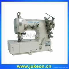 High speed three-needle covering stitch industrial sewing machine