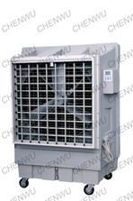 Mobile evaporative air cooler