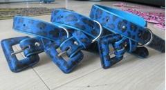 dog collar with lepord print