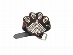 Dog Collar with big paw shape decoration