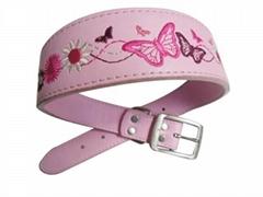 pu Dog Collar embroidered sakura