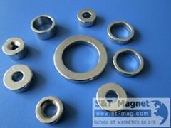 NdFeB, Ni,Zn coated,permanent magnet,ring shape,custom made