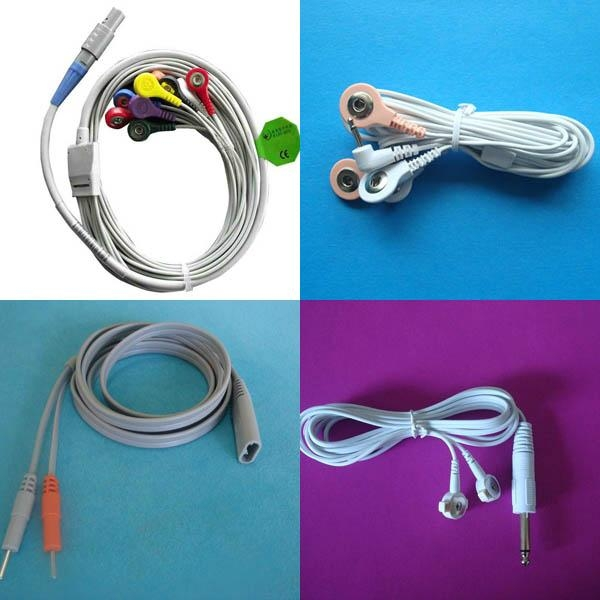snap tens electrode lead wire cable,medical electrode cable for ...