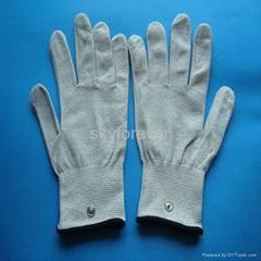 conductive massage gloves,nylon massage glove for health