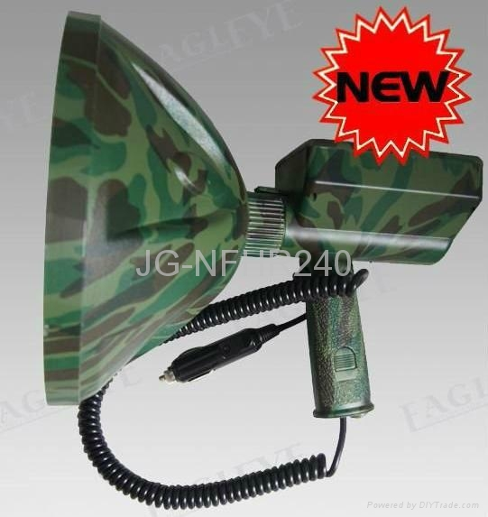 100W HID Spotlight For Hunting Marine Military,with 12V Cigar Plug 1