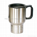 Double wall stainless steel auto mug 1