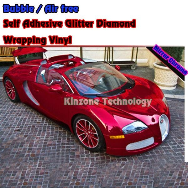 Chrome Foil Red Car Decal Film Wrap 1 52 30m Kinzone China