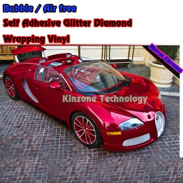 Chrome Foil Red Car Decal Film Wrap 1 52 30m Kinzone China