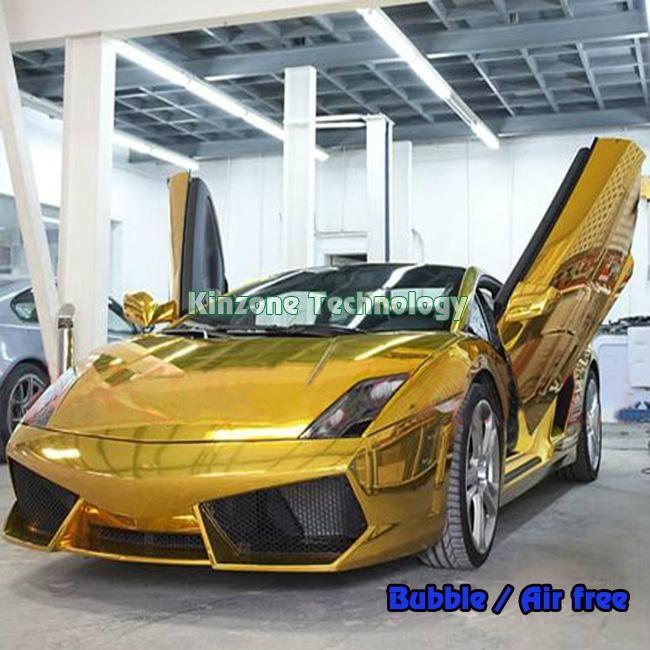 Chrome gold car emblem 3m paint protection film kinzone - Car exterior decoration accessories ...