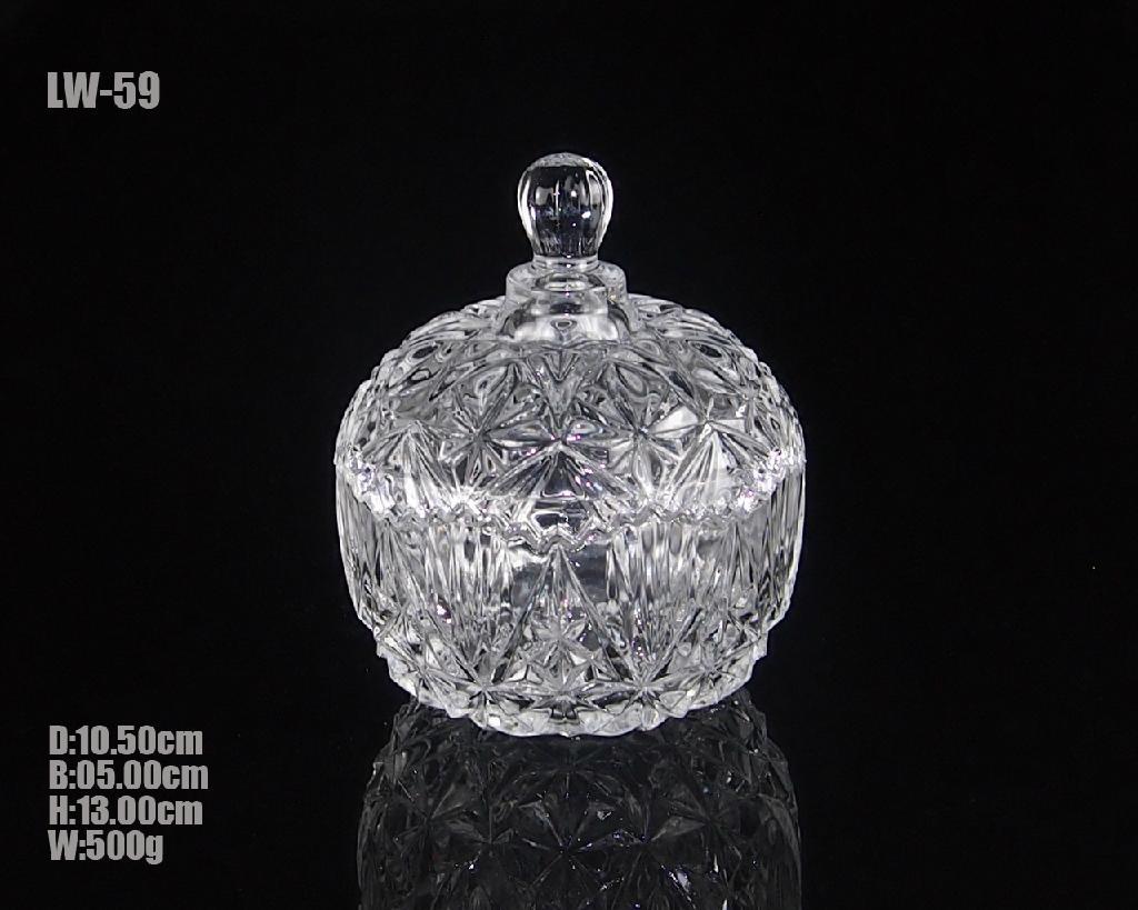Glass Candy Jar 1