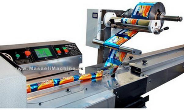 بسته بندی حبوبات در مازندران Biscuit pillow packing machine - pm2ktf40 - Masaeli Industrial Machinery (Iran Manufacturer) - Packaging Related Machine - Indus