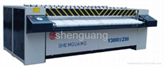 Shenguang YZ Series Steam Heated Ironer hotel linen laundry equipment