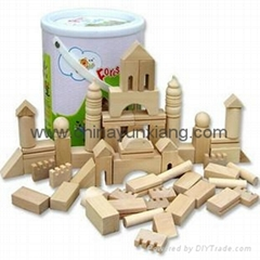 65pcs wooden building blocks