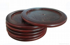 Wooden coasters with non-toxic oil, various sizes and shapes are available