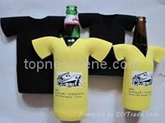 T-shirt neoprene bottle cooler holder promo gift