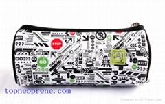 custom printing neoprene pencil bag case