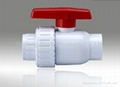 plastic pvc single union ball valve