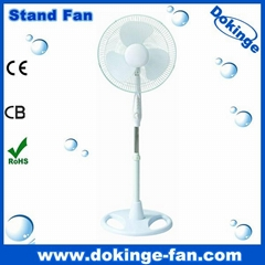 """2013 new model new PP body 16"""" stand fan with round base"""