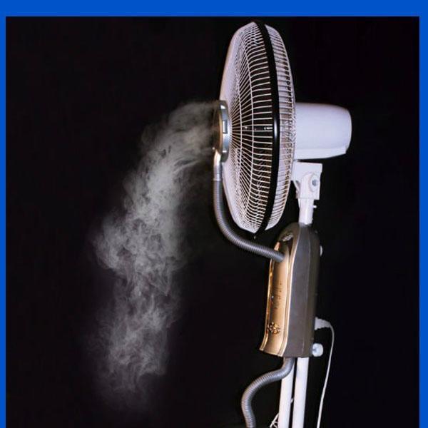 Spray Mist Fan : Inch water spray mist fan with remote control dk