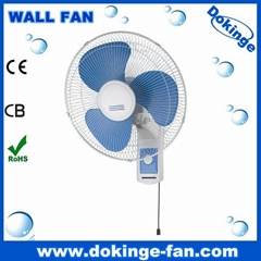 16 inch electric wall fan with 100% copper wire