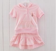Pink Angel Hoodie Dress Set