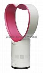 Portable Bladeless Fan,Table Fan 10inch Heart Shape