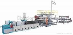 PVC, PE, PP waterproof sheet production line
