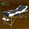 portable 3-section aluminum massage table