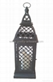 Flameless Metal Lantern with Plastic LED Candle 1