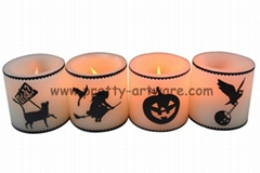 Halloween Decal LED Candle Light