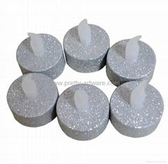 Si  er Glitter Plastic LED Tea Lights