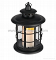 Round Metal LED Candle Lantern