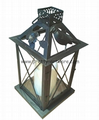 Everlasting Glow Metal LED Candle Lantern