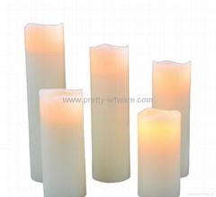 5pc set flameless bone wax LED candle