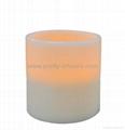 Bright Pillar Wax LED Candle