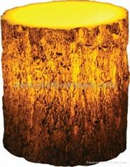 Tree Bark Carved Wax LED Candle