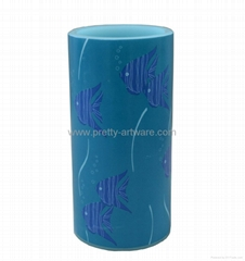 Flameless Fish Decal Paraffin Wax LED Candle