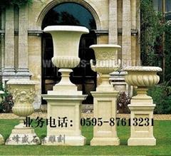 石材花钵雕刻