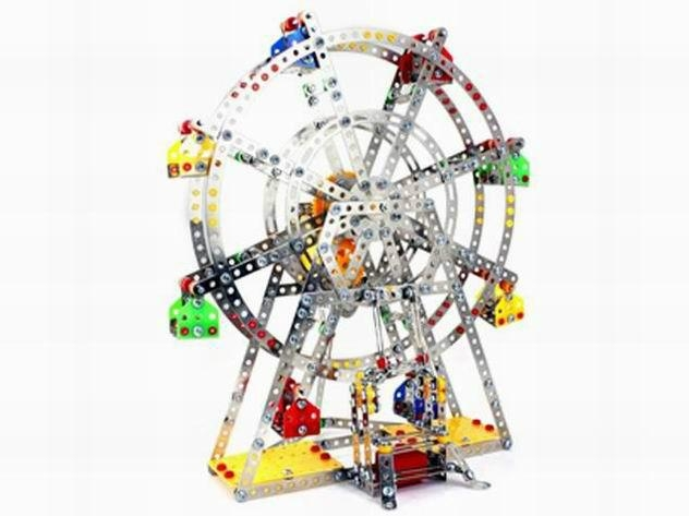 DIY 3D metal  Ferris wheel model puzzle blocks intelligent jigsaw toys 1