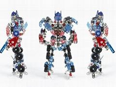 DIY 3D metal transformer robot model puzzle blocks intelligent jigsaw toys